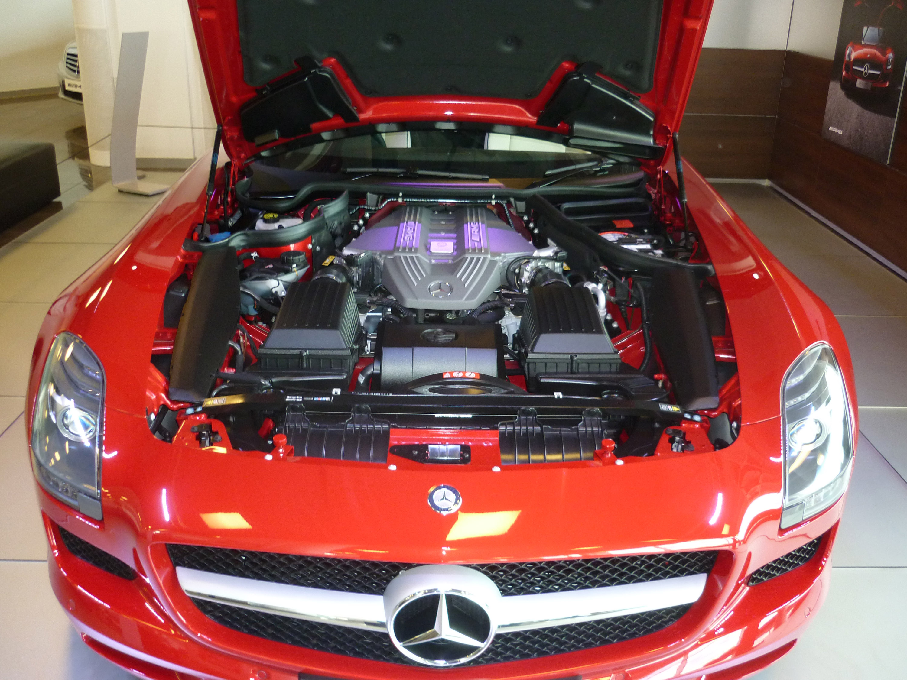 how to open mercedes hood from outside