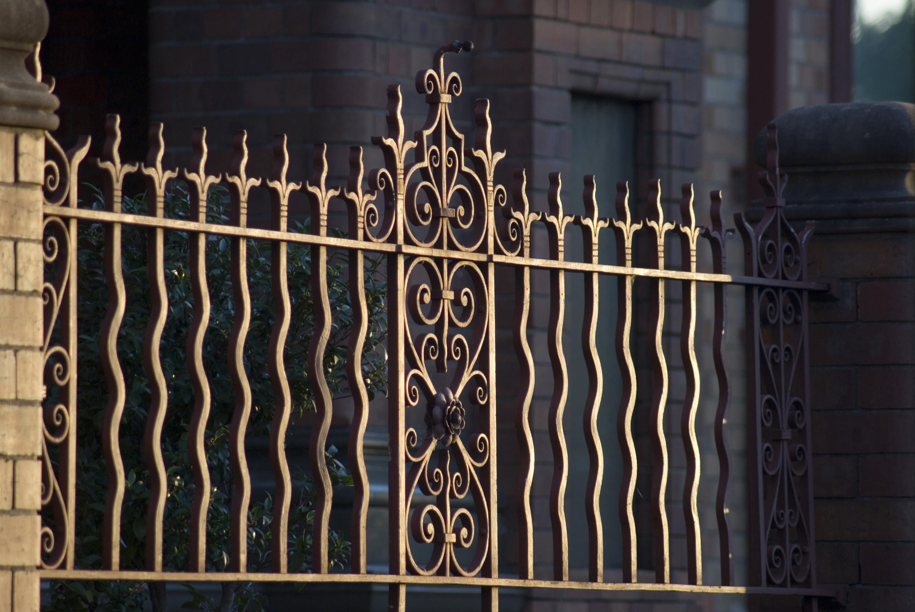 Fancy wrought iron gates stockarch free stock photos