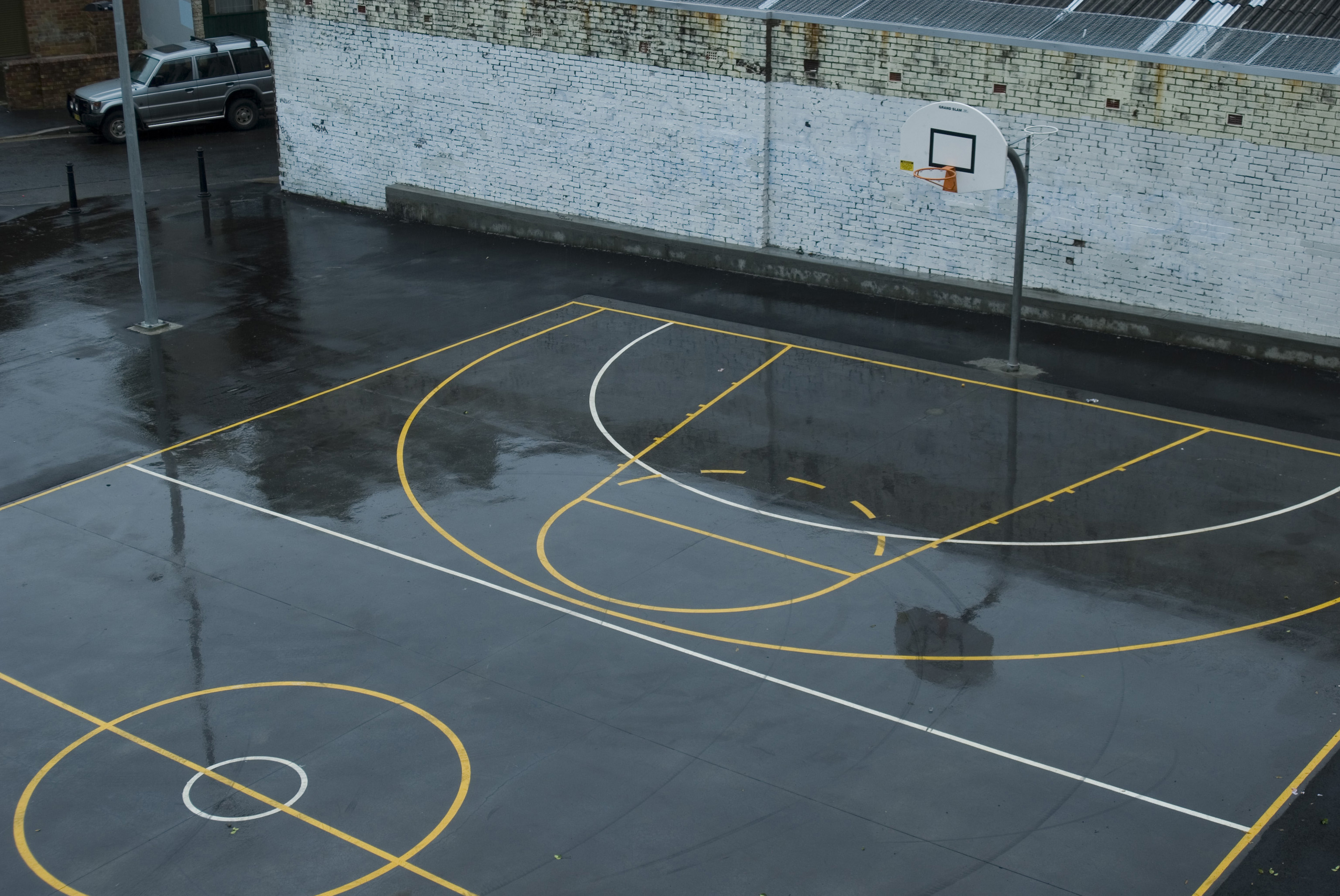 wet basketball court 3847 stockarch free stock photos