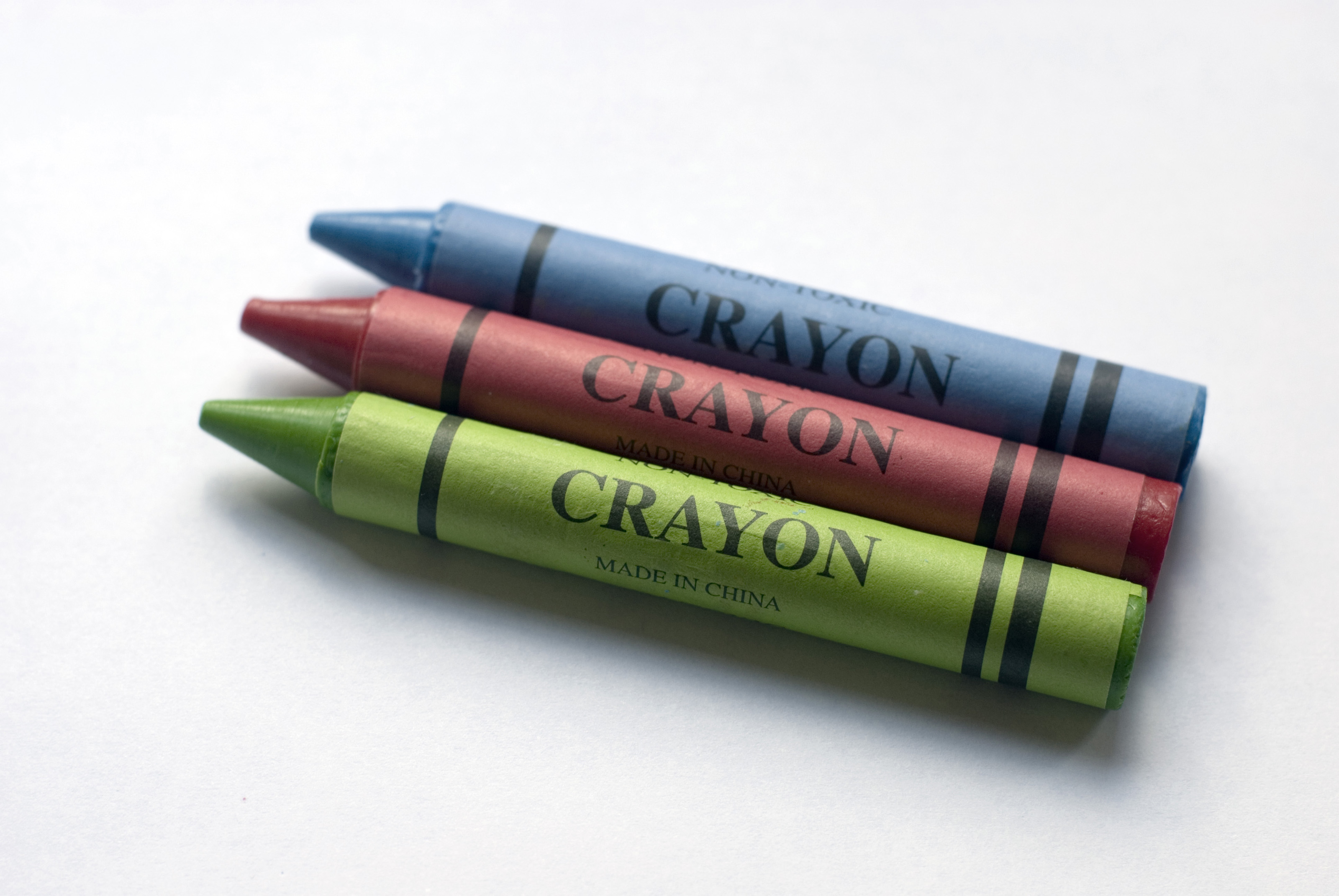 Red, green and blue crayons-3890 | Stockarch Free Stock Photos