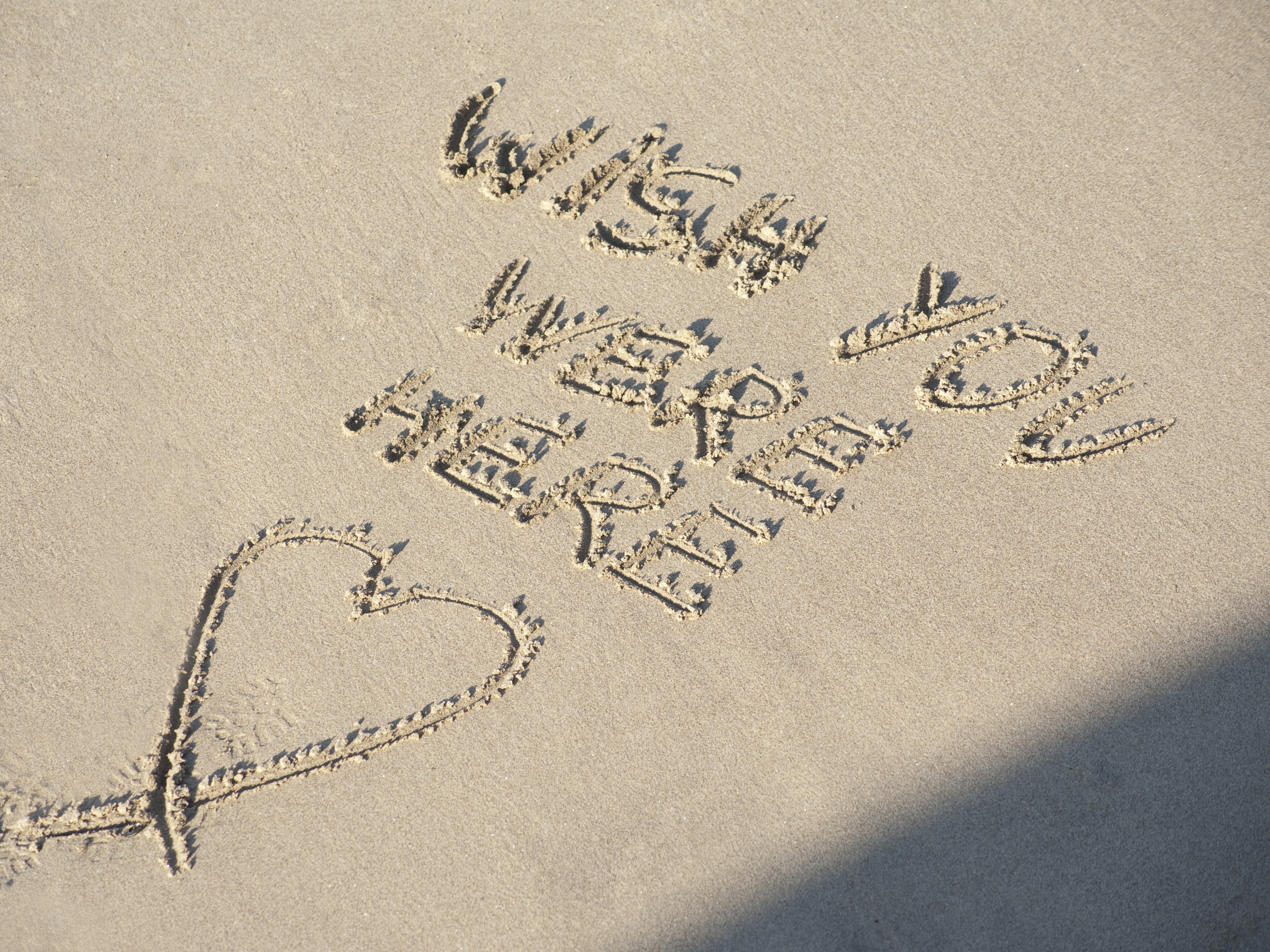 Wish You Were Here Quotes Mesmerizing Wish You Were Here On Beach Sand4235  Stockarch Free Stock Photos
