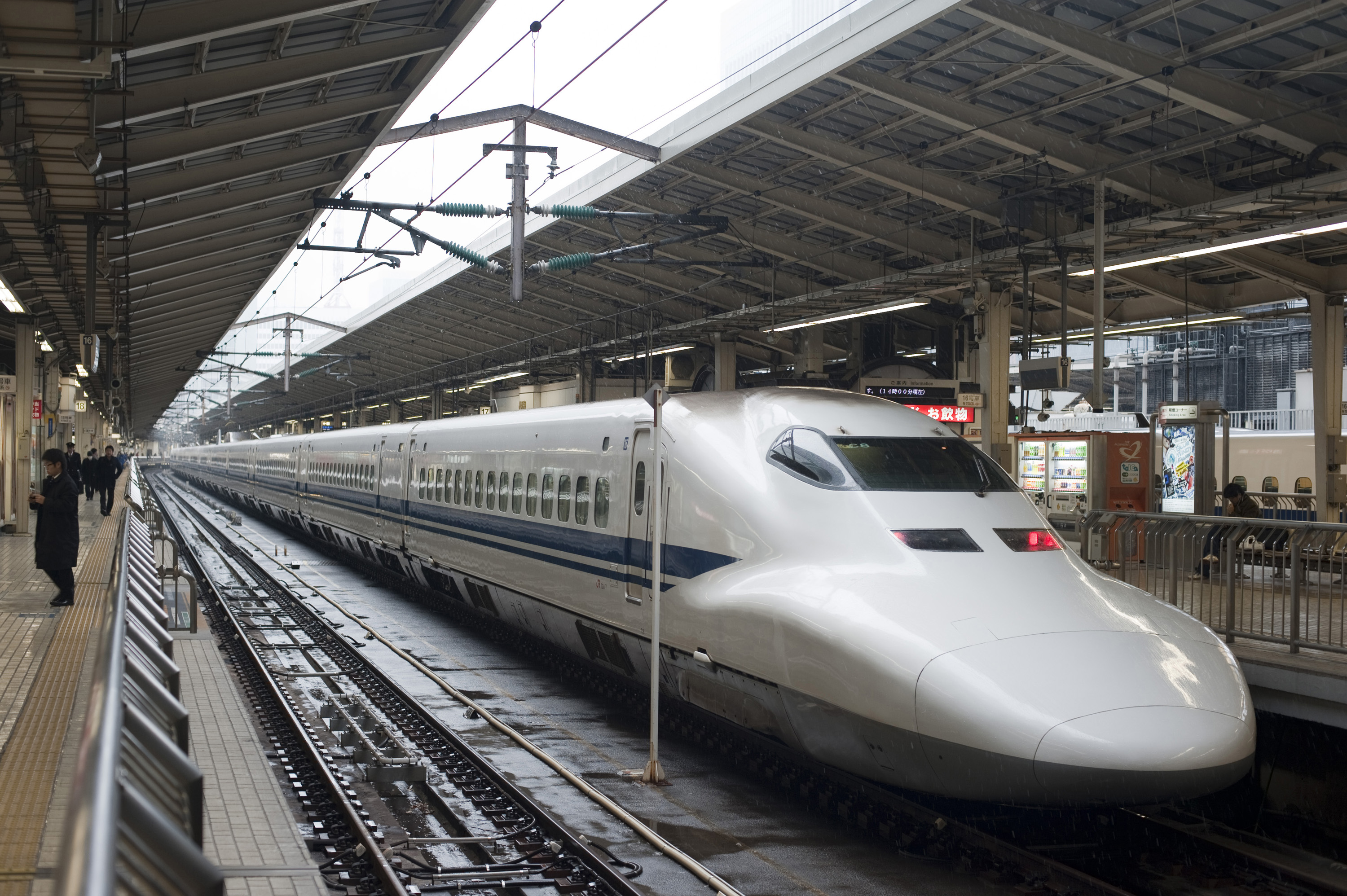 Shinkansen bullet train in station-5333 | Stockarch Free ...