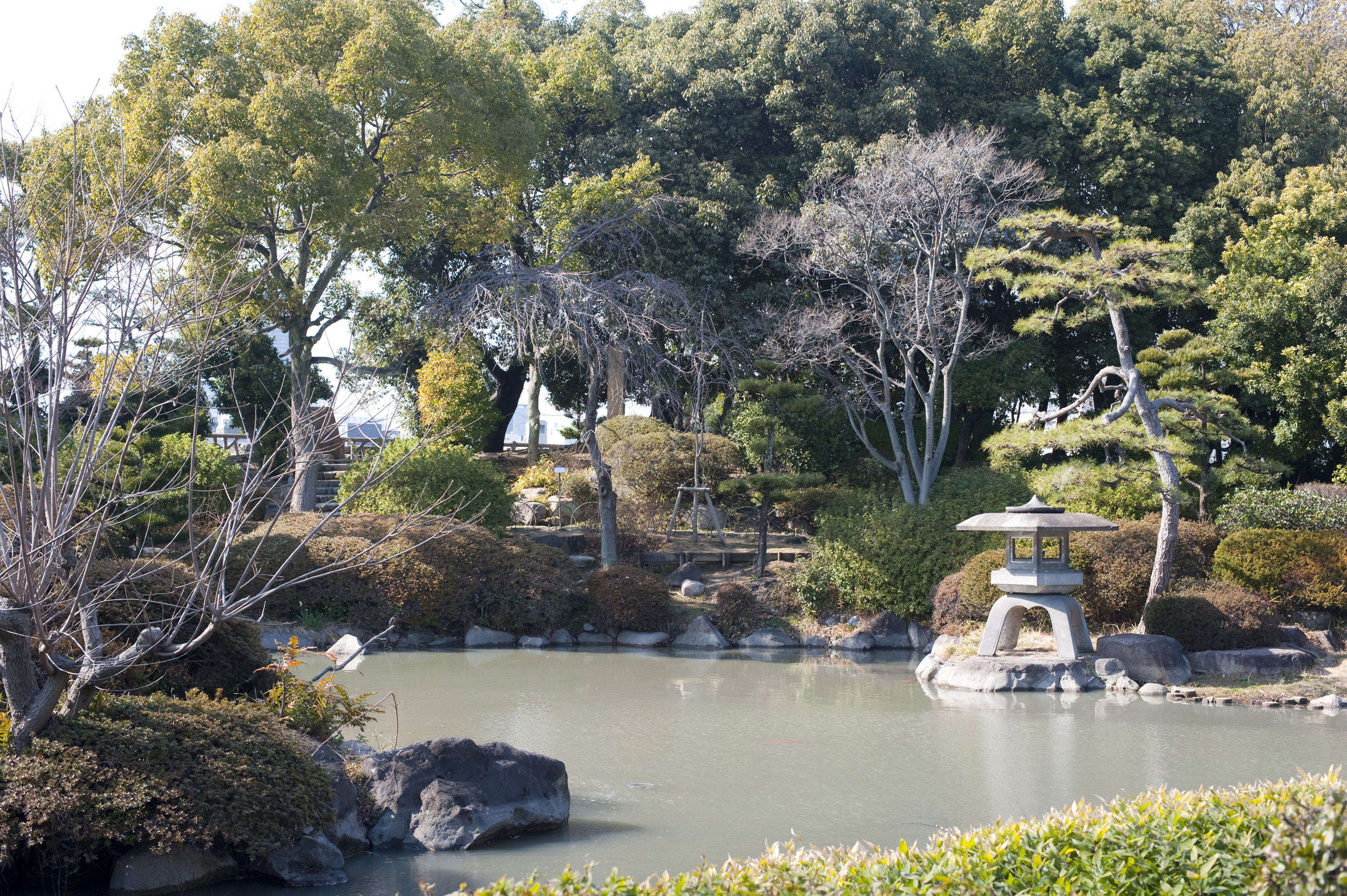 Tranquillity of a japanese garden 5388 stockarch free for Formal japanese garden