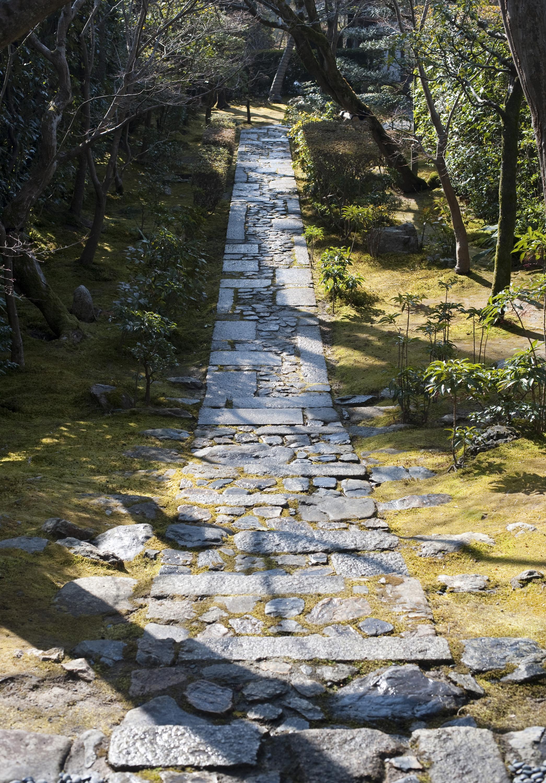 Stone garden paths for Garden path stones