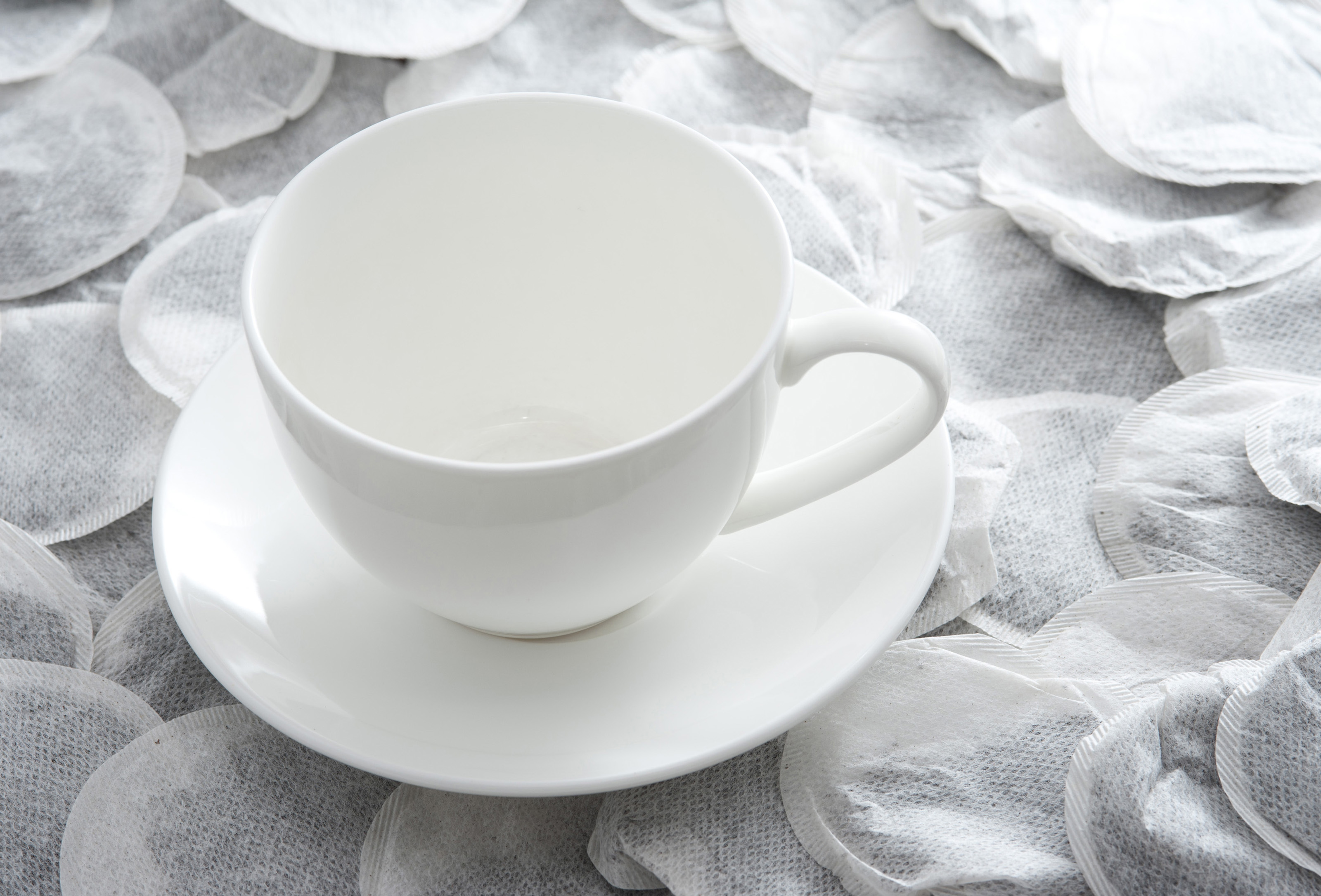 Empty teacup and teabags-8130   Stockarch Free Stock Photos