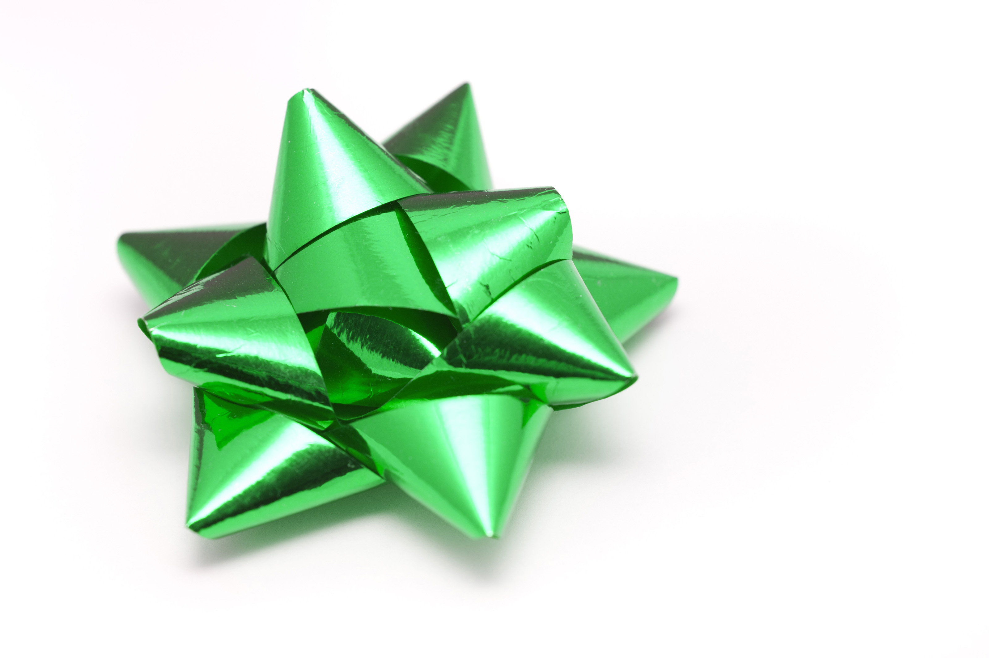 Green Christmas Bow Background Graphics: Metallic Green Christmas Bow-8261