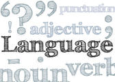 hand drawn effect type spelling Language and various language education related concepts