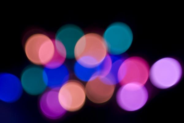 etheral blurred bokeh light effect