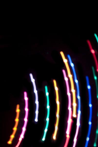 abstract background of colourful lines of light
