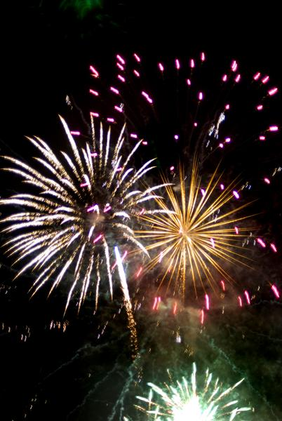 an colourful fireworks display concept of new years eve celebrations