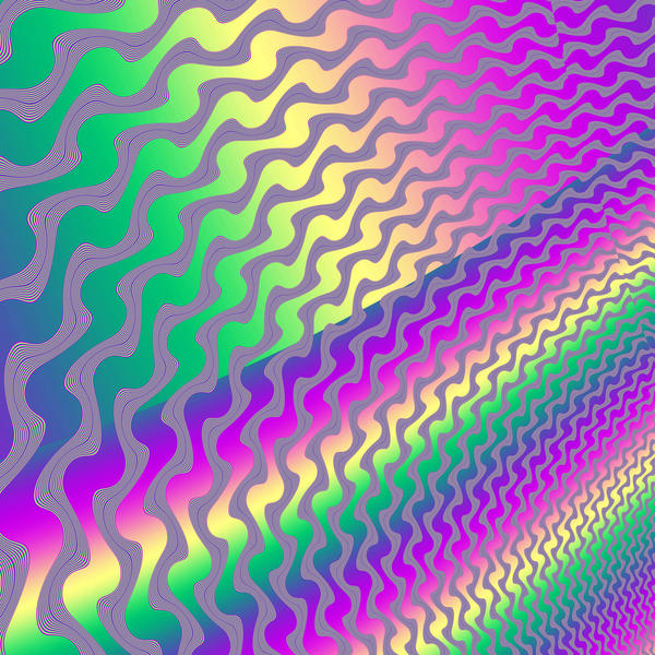 bright and colourful computer generated background with a full    Bright Colourful Patterns