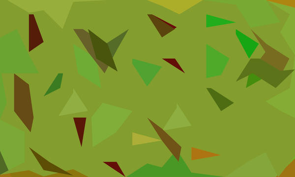 a triangular stylised green camouflage pattern