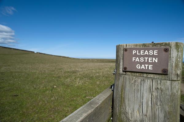 Please fasten gate sign stockarch free stock photos