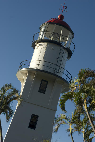 the diamond head lighthouse, honolulu, oahu, hawaii