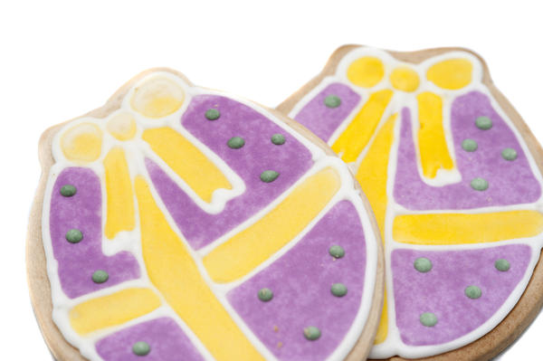 Colourful iced easter biscuits 7138