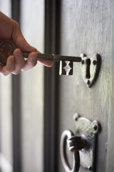Man Holding An Old Fashioned Key 6815 Stockarch Free
