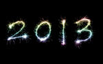 stock image celebrating the year 2013 new years eve sparkler numbers