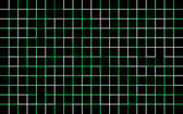 a square grid pattern with various coloured green and white lines