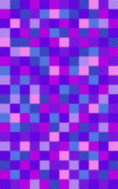 colourful checked pattern of halftoned squares