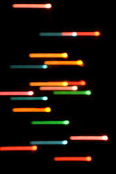 motion blurred lines of colourful lights