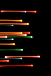 motion blured parallel lines of coloured light