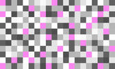 a grid of grey, white and pink graphic tiles