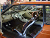 editorial use: interior of a concept rangerover car