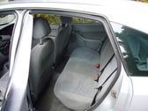 rears seats of a european family sized car