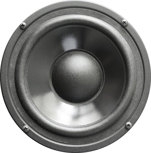 isolated on a white background, a loudspeaker