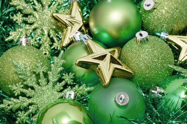Green Christmas decoration background-6349 | Stockarch