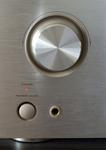 Close up on the front of a home entertainment sound system amplifier reciever