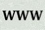 the letters www (world wide web) on a background of digital 1's and 0's